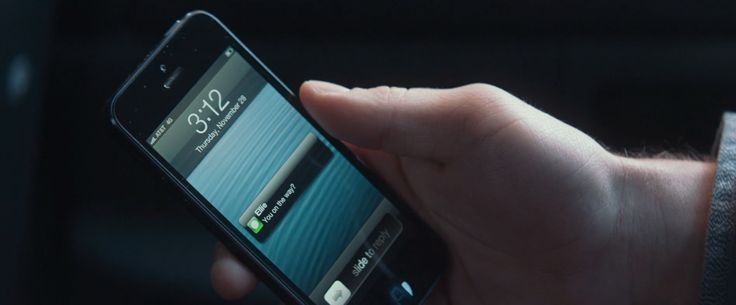Apple iPhone mobile phone in THAT AWKWARD MOMENT (2014) Movie Product Placement