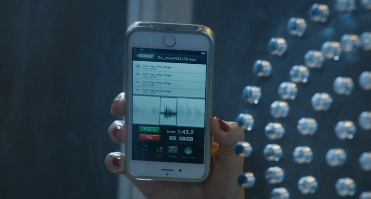 Apple iPhone mobile phone used by Lolita Davidovich in BLOOD & OIL: THE ART OF THE DEAL (2015) TV Show Product Placement