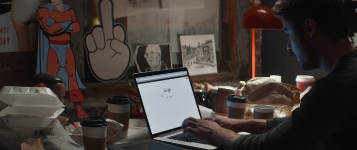Apple laptop and Google website used by Zac Efron in THAT AWKWARD MOMENT (2014) Movie Product Placement