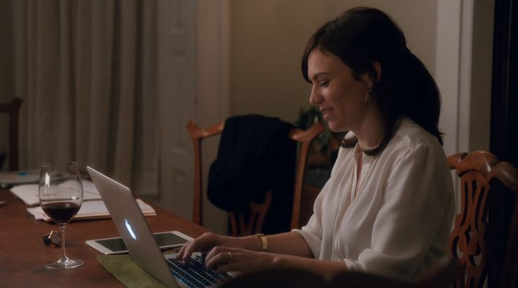 Apple laptop used by Maggie Siff in BILLIONS: PILOT (2016) TV Show Product Placement