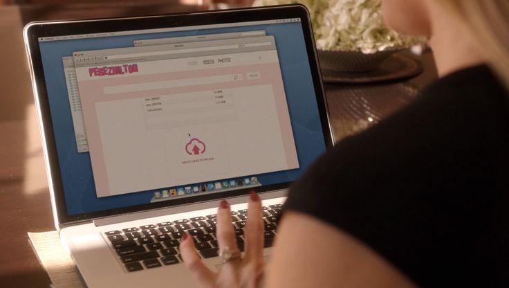 Apple MacBook and PerezHilton.com - Empire - TV Show Product Placement