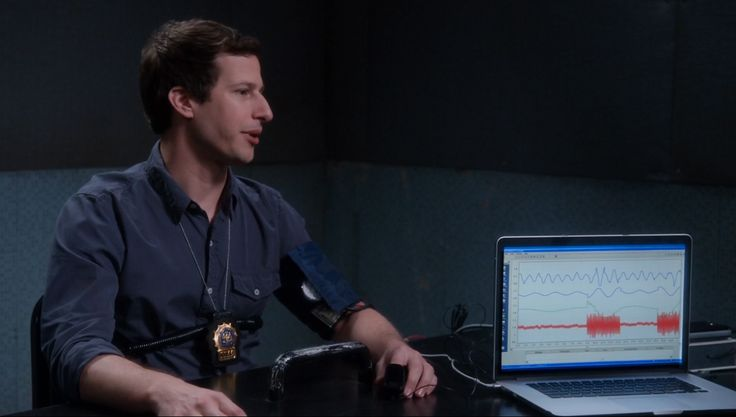 Apple MacBook laptop in in BROOKLYN NINE-NINE: UNSOLVABLE (2014) TV Show Product Placement
