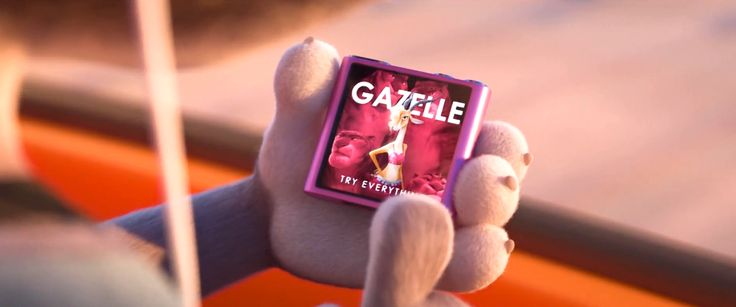 Apple media player in ZOOTOPIA (2016) - Animation Movie Product Placement
