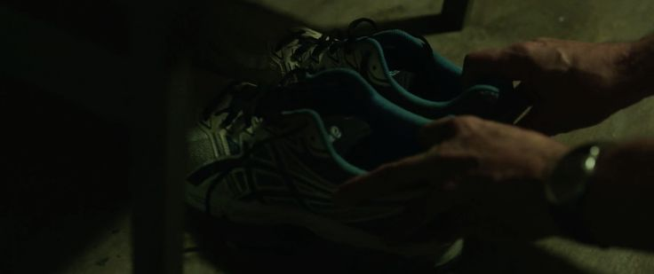Asics shoes - WAR MACHINE (2017) Movie Product Placement