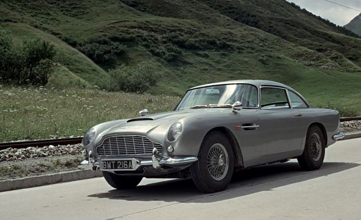 Aston Martin DB5 (1963) car in GOLDFINGER (1964) Movie Product Placement
