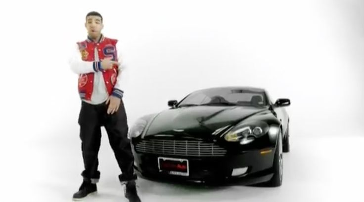 Aston Martin DB9 car in 4 MY TOWN (PLAY BALL) by Birdman (2009) Official Music Video Product Placement