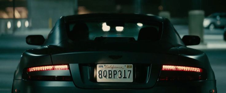 Aston Martin DB9 car driven by Jason Statham in FURIOUS 7 (2015) Movie Product Placement