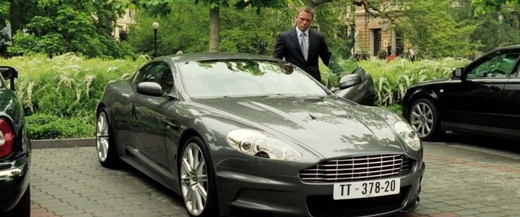 Aston Martin DBS car driven by Daniel Craig in CASINO ROYALE (2006) Movie Product Placement