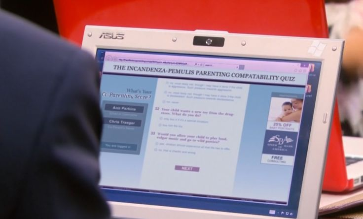 Asus laptop - PARKS AND RECREATION: PARTRIDGE (2013) TV Show Product Placement