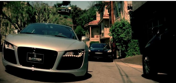 Audi R8 car in EENIE MEENIE by Sean Kingston and Justin Bieber (2010) Official Music Video Product Placement