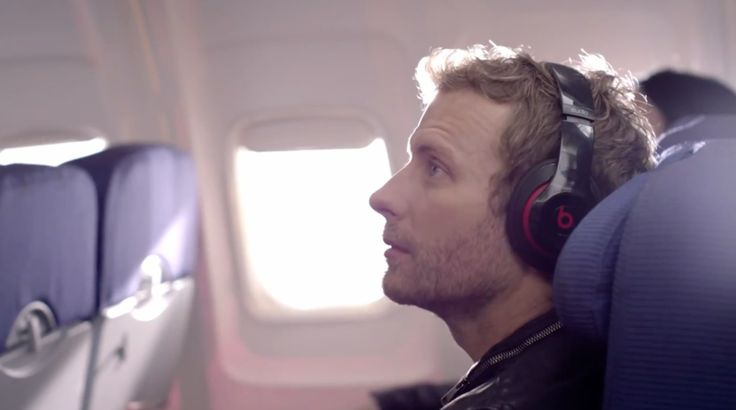 Beats by Dre Studio Wireless headphones worn by Dierks Bentley in DRUNK ON A PLANE by Dierks Bentley (2014) - Official Music Video Product Placement