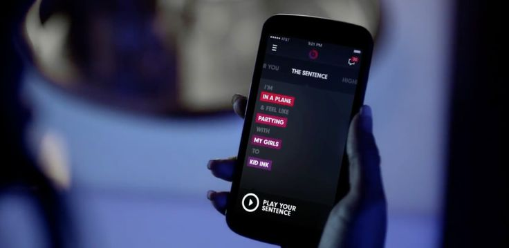 Beats Music app in MAIN CHICK (REMIX) by Kid Ink (2014) Official Music Video Product Placement