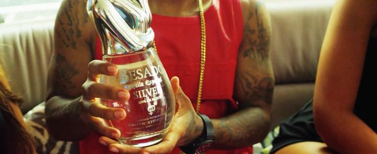 Besado tequila in WYA by Jermaine Dupri (2015) Official Music Video Product Placement