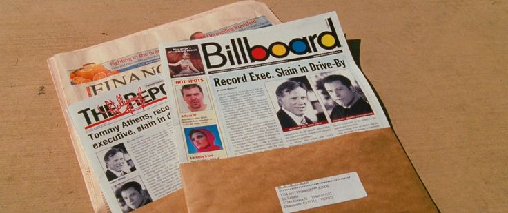 Billboard, The Hollywood Reporter Magazines and The Financial Times Newspaper in BE COOL (2005) Movie Product Placement