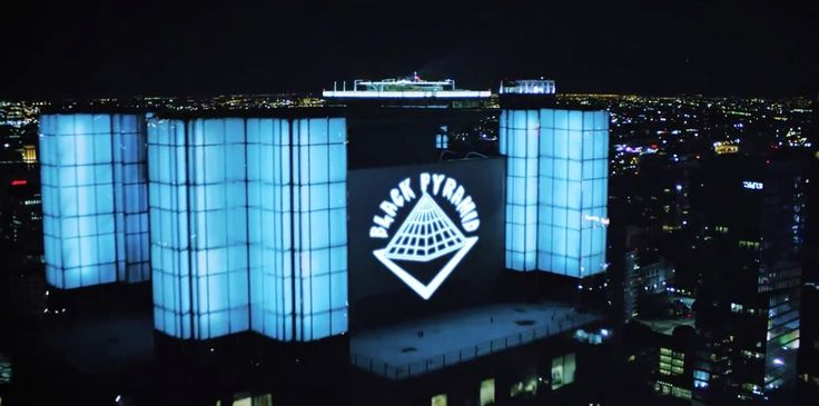Black Pyramid building in AYO by Chris Brown (2015) Official Music Video Product Placement
