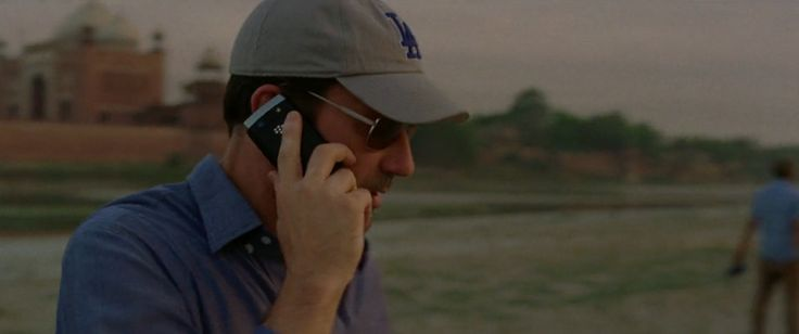 Blackberry mobile phone used by Jon Hamm in MILLION DOLLAR ARM (2014) Movie Product Placement