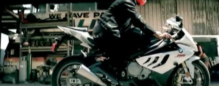 BMW S 1000 RR motorcycle driven by Taio Cruz in DYNAMITE (2010) Official Music Video Product Placement