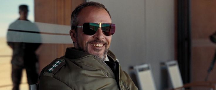 Boris Becker by Polaroid 4804C sunglasses worn by Fernando Guillén Cuervo in QUANTUM OF SOLACE (2008) - Movie Product Placement