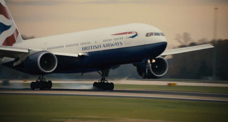 British Airways plane in PHILOMENA (2013) Movie Product Placement
