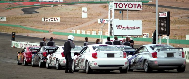 Budweiser and Toyota billboards in BORN TO RACE: FAST TRACK (2014) - Movie Product Placement