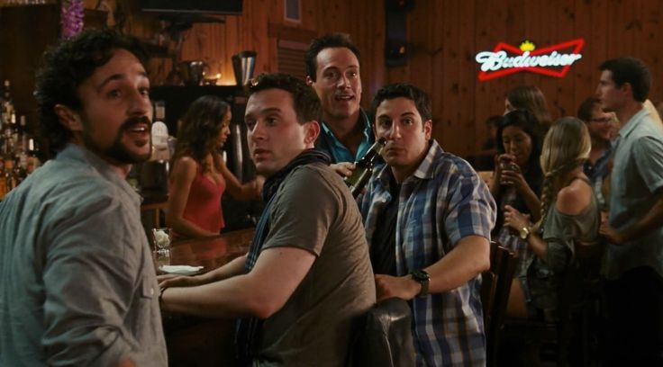 Budweiser neon sign AMERICAN REUNION (2012) Movie Product Placement