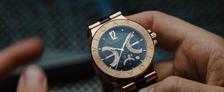 Bulgari Diagono Retrograde Moonphase Watch - Iron Man (2008) - Movie Product Placement