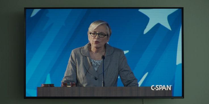 C-SPAN TV channel and Samsung TV in HOUSE OF CARDS: CHAPTER 48 (2016) TV Show Product Placement