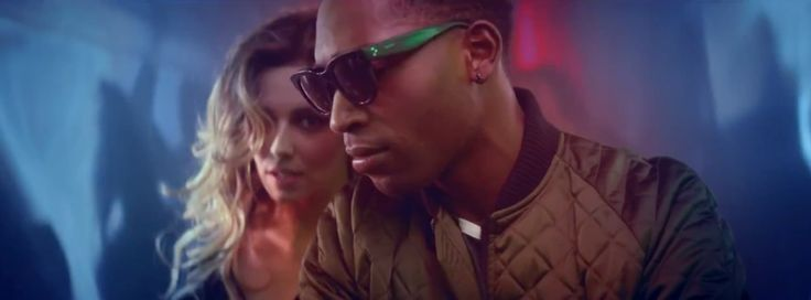 Céline Audrey sunglasses worn by Tinie Tempah in CRAZY STUPID LOVE by Cheryl Cole (2014) Official Music Video Product Placement
