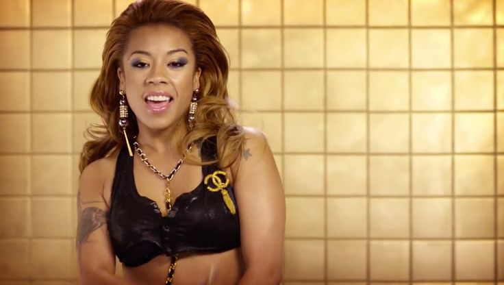 Chanel pin worn by Keyshia Cole in PARTY AIN'T A PARTY (2014) Official Music Video Product Placement