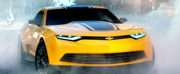 Yellow Chevrolet Camaro Car - TRANSFORMERS: AGE OF EXTINCTION (2014) Movie Product Placement