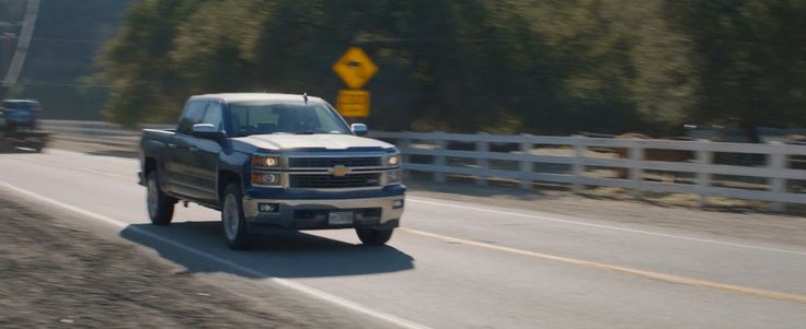 Chevrolet Silverado pickup truck driven by Chris Evans in Captain America: The Winter Soldier (2014) Movie