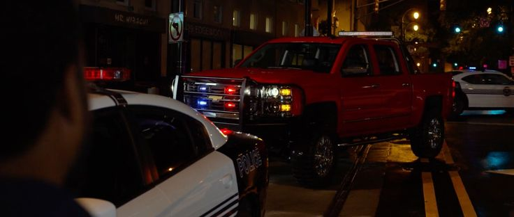 Chevrolet Silverado truck and Dodge Charger cars in RIDE ALONG 2 (2016) Movie Product Placement