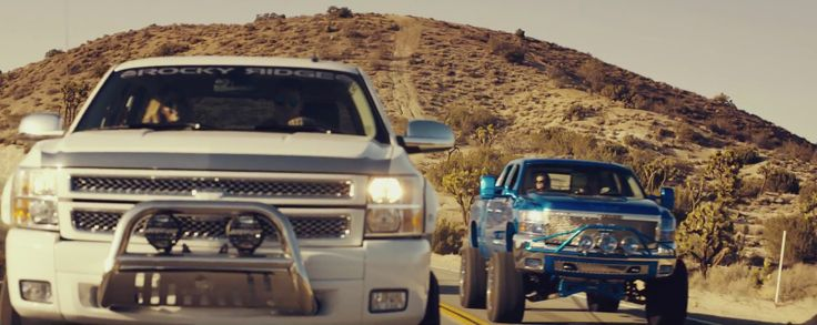 Chevrolet Silverados driven by Brian Kelley and Tyler Hubbard in CRUISE (REMIX) by Florida Georgia Line (2013) - Official Music Video Product Placement