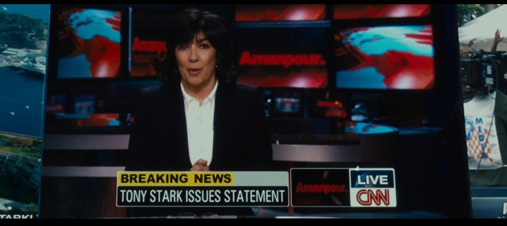 CNN TV Channel and Amanpour TV Show - Iron Man 2 (2010) Movie Product Placement