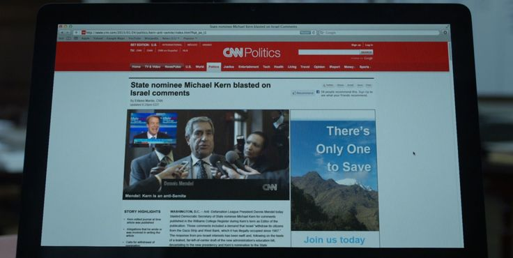 CNN website in HOUSE OF CARDS: CHAPTER 2 (2013) - TV Show Product Placement