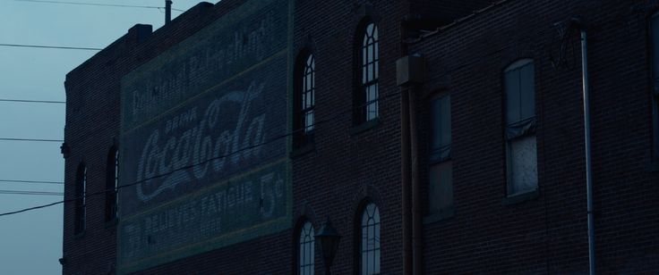 Coca-Cola mural - GONE GIRL (2014) Movie Product Placement