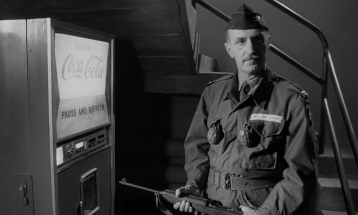 Coca-Cola vending machine - Dr. Strangelove or: How I Learned to Stop Worrying and Love the Bomb (1964) Movie Product Placement