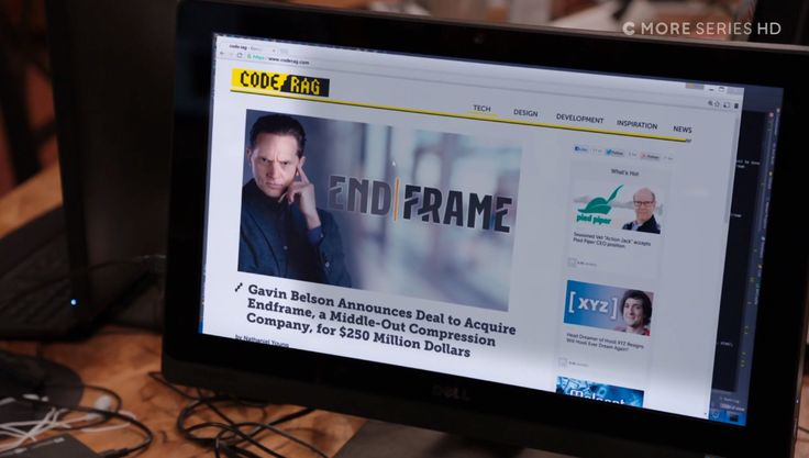 Code/Rag website and Dell monitor - Silicon Valley TV Show Product Placement