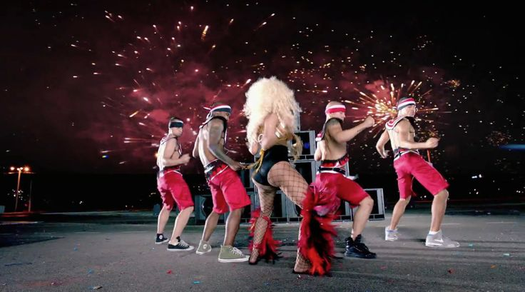 Converse and Nike shoes in POUND THE ALARM by Nicki Minaj (2012) Music Video Product Placement