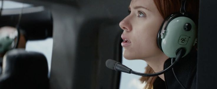 David Clark headset worn by Scarlett Johansson in CAPTAIN AMERICA: THE WINTER SOLDIER (2014) Movie Product Placement