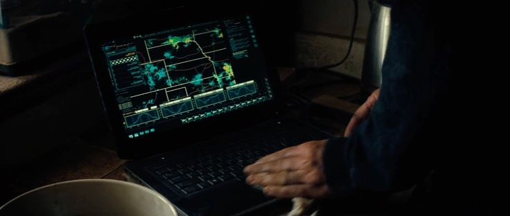 Dell laptop used by Matthew McConaughey in INTERSTELLAR (2014) Movie Product Placement