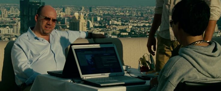 Dell laptop used by Paul Giamatti in THE HANGOVER PART II (2011) Movie Product Placement