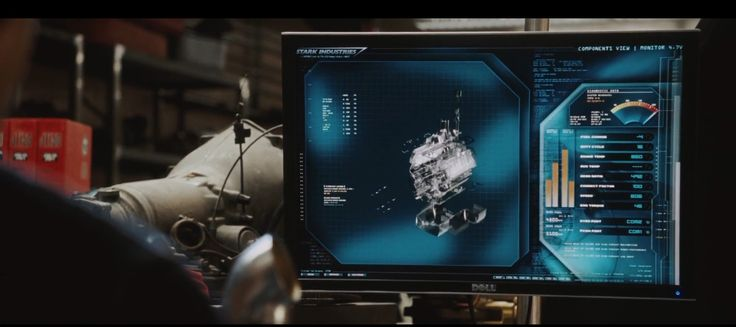 Dell monitor - IRON MAN (2008) Movie Product Placement