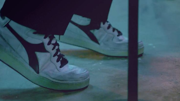 Diadora heritage high top sneakers worn by Sebu Simonian in I SOLD MY BED, BUT NOT MY STEREO by Capital Cities (2014) Official Music Video Product Placement
