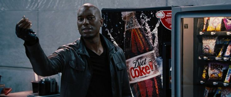 Diet Coke vending machine in FAST & FURIOUS 6 (2013) Movie Product Placement