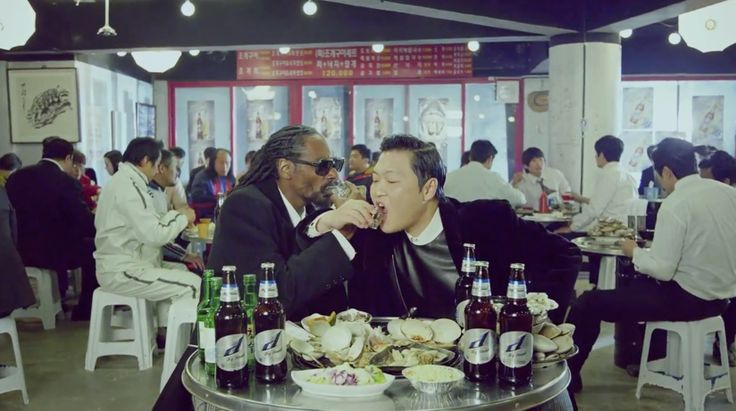 Dry Finish D beer in HANGOVER by PSY (2014) Official Music Video Product Placement