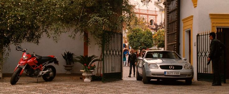 Ducati motorcycle and Mercedes-Benz SLK 230 [R170] in KNIGHT AND DAY (2010) - Movie Product Placement