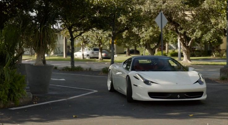 Ferrari 458 Italia car driven by John David Washington in BALLERS: RAISE UP (2015) TV Show Product Placement