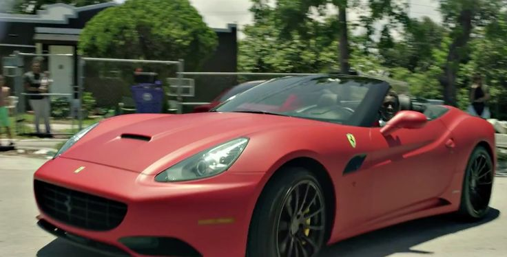 Ferrari California car driven by Young Thug in LIFESTYLE by Rich Gang (2014) - Official Music Video Product Placement
