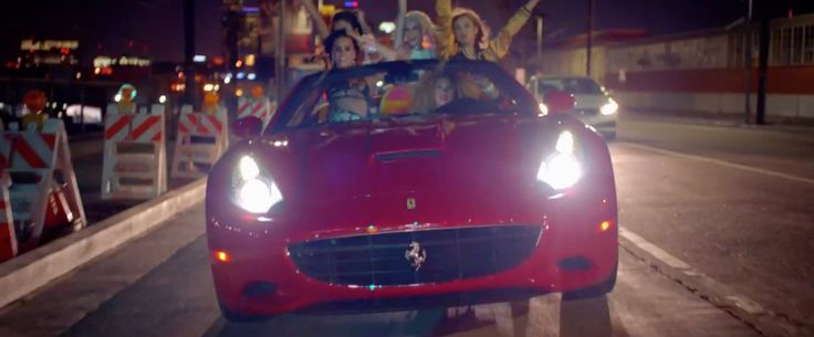 Ferrari California car in COOL FOR THE SUMMER by Demi Lovato (2015) Official Music Video Product Placement
